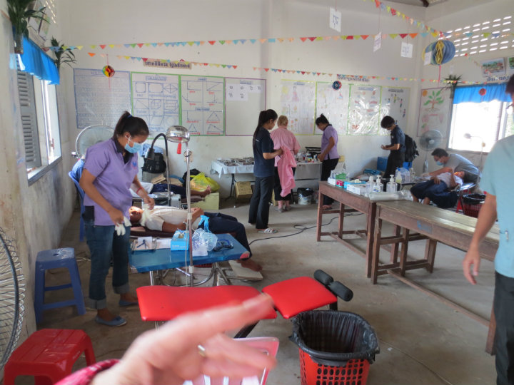 A pop-up dental clinic put on by the CCDO helps improve the health of the local community. This population otherwise would not have access to such services.