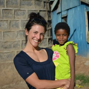 Christina Stellini with regina 2015, St. Vincent's, Kibera