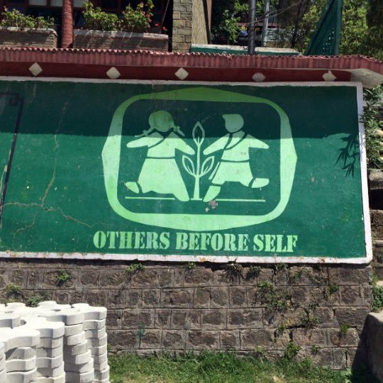 Others before self, giving, belief and values